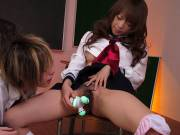 Hot Japanese schoolgirl seduces a young man